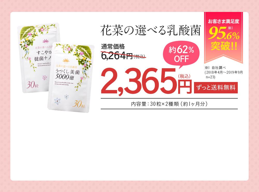 花菜の選べる乳酸菌 約91%OFF 通常価格5,800円(税別)→500円(税別) ずっと送料無料